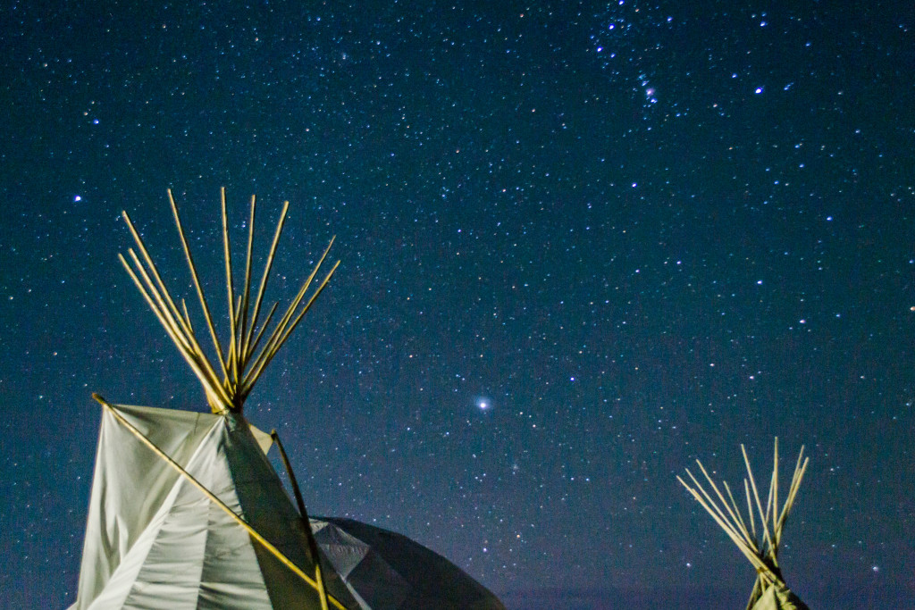 Astrophotography, Tipi, Native American, Standing Rock