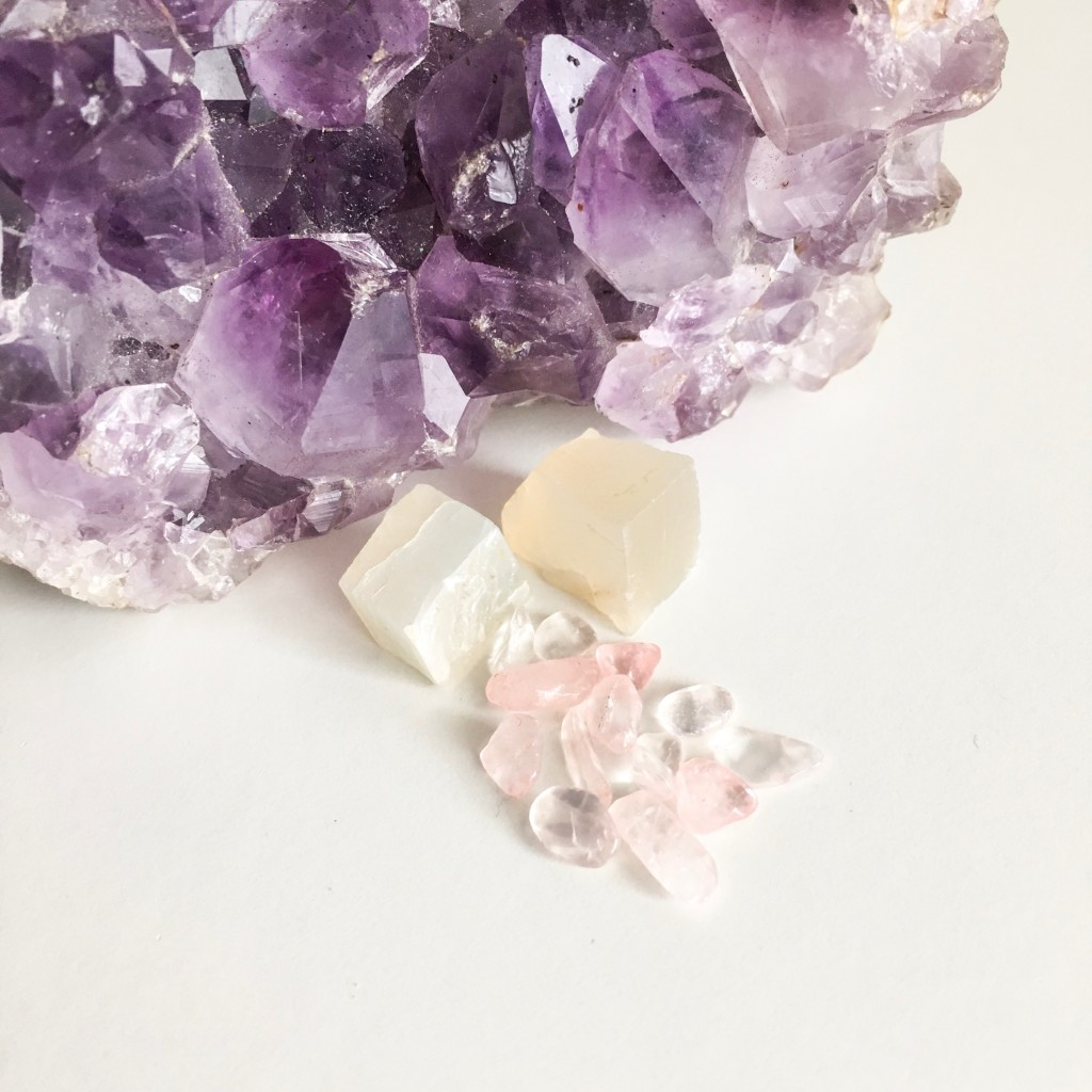 Rose Quartz Moon Stone Amethyst