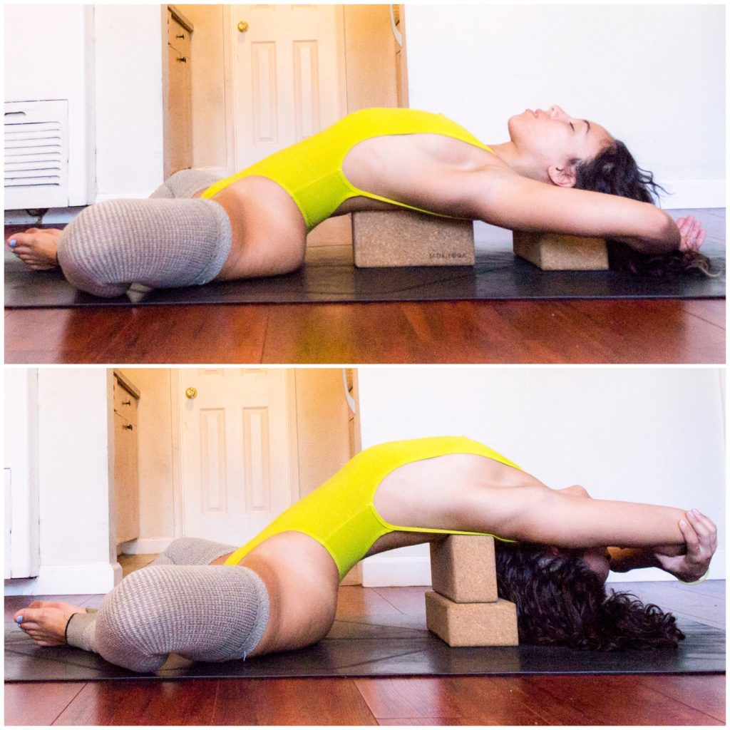 Shoulder Tension, Relax, Yoga, Yoga Tutorial, Yoga with Blocks, Restorative, Just Breathe